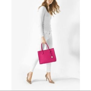 Michael Kors MK Ultra Pink Medium Size Tote